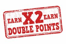 Earn 2x Points with Visa debit and credit cards